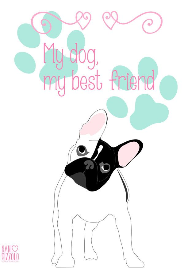 Fofurices, printables, dog, best friend, french bulldog @ Nani Pizzolo