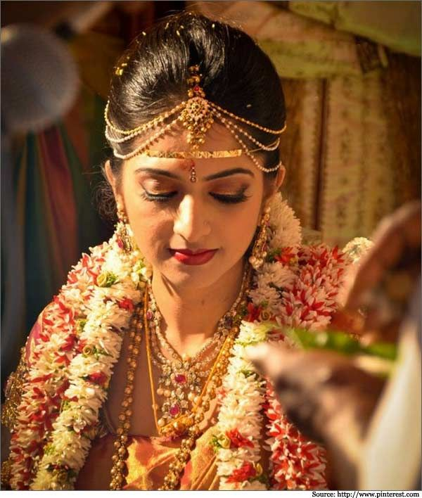 Peachy South Indian Weddings Bridal Sarees And Indian On Pinterest Short Hairstyles For Black Women Fulllsitofus