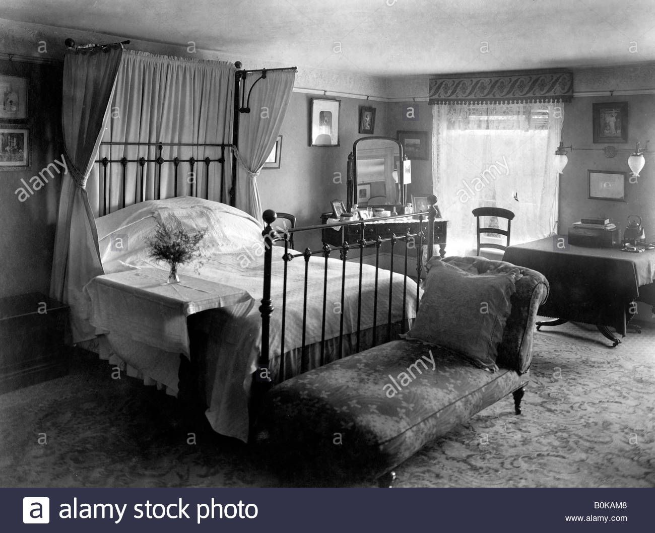 Download This Stock Image Edwardian Bedroom 1909 B0kam8 From