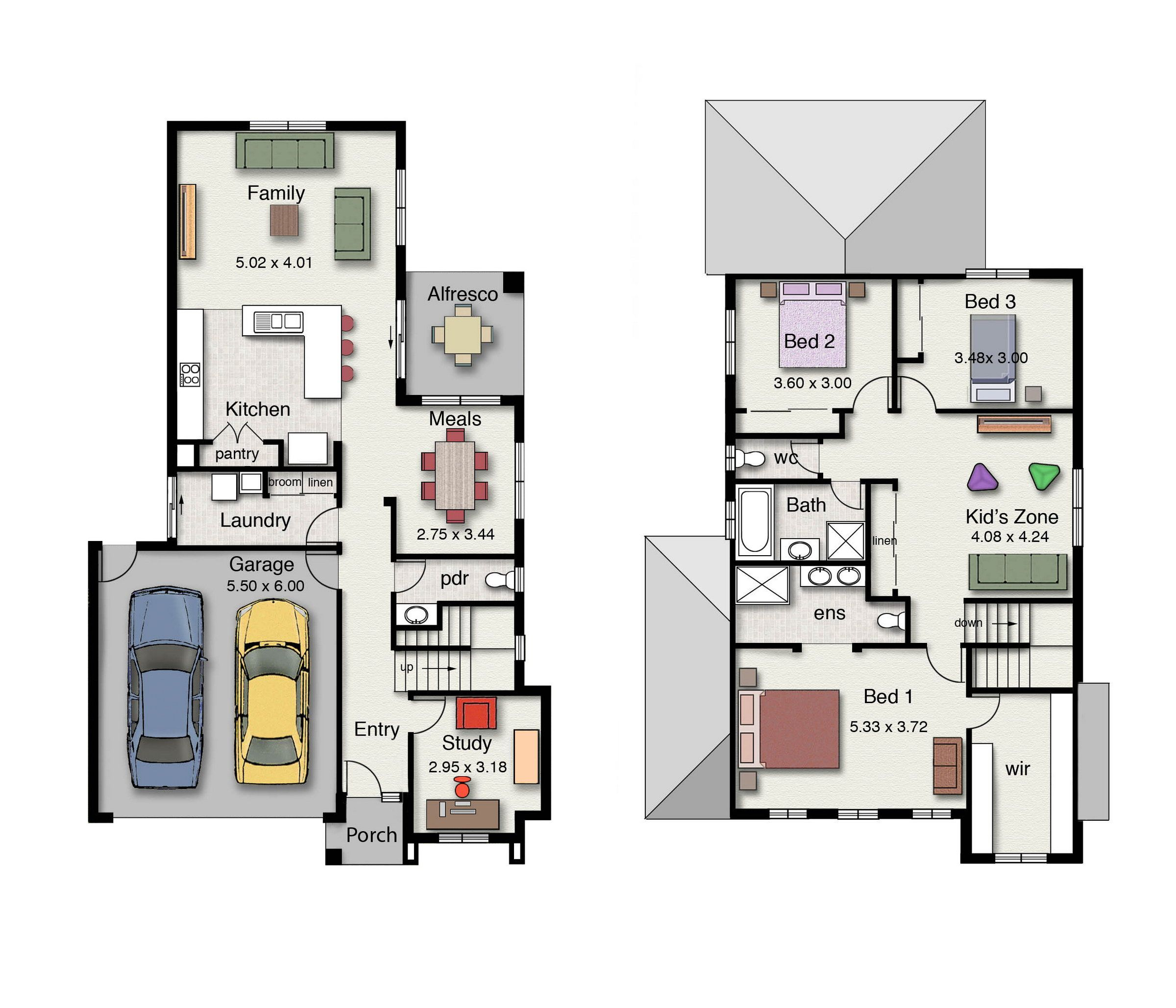 Three Bedroom Home Design Delectable The Lorne 246 Features Three Bedrooms 25 Bathrooms And A Double Decorating Design