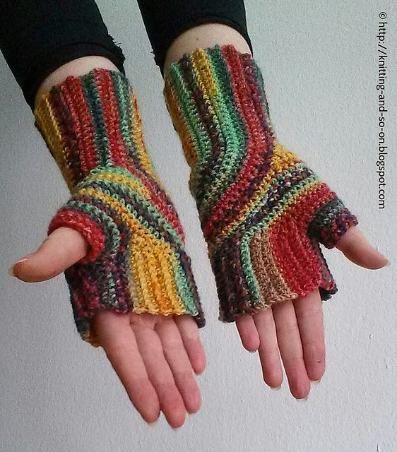 Ravelry: U-Turn Mitts (Crochet Version) pattern by Sybil R | guantes ...