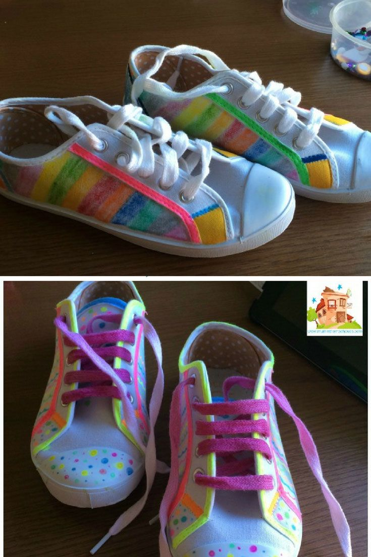 Decorating Shoes with Fabric Pens   Diy