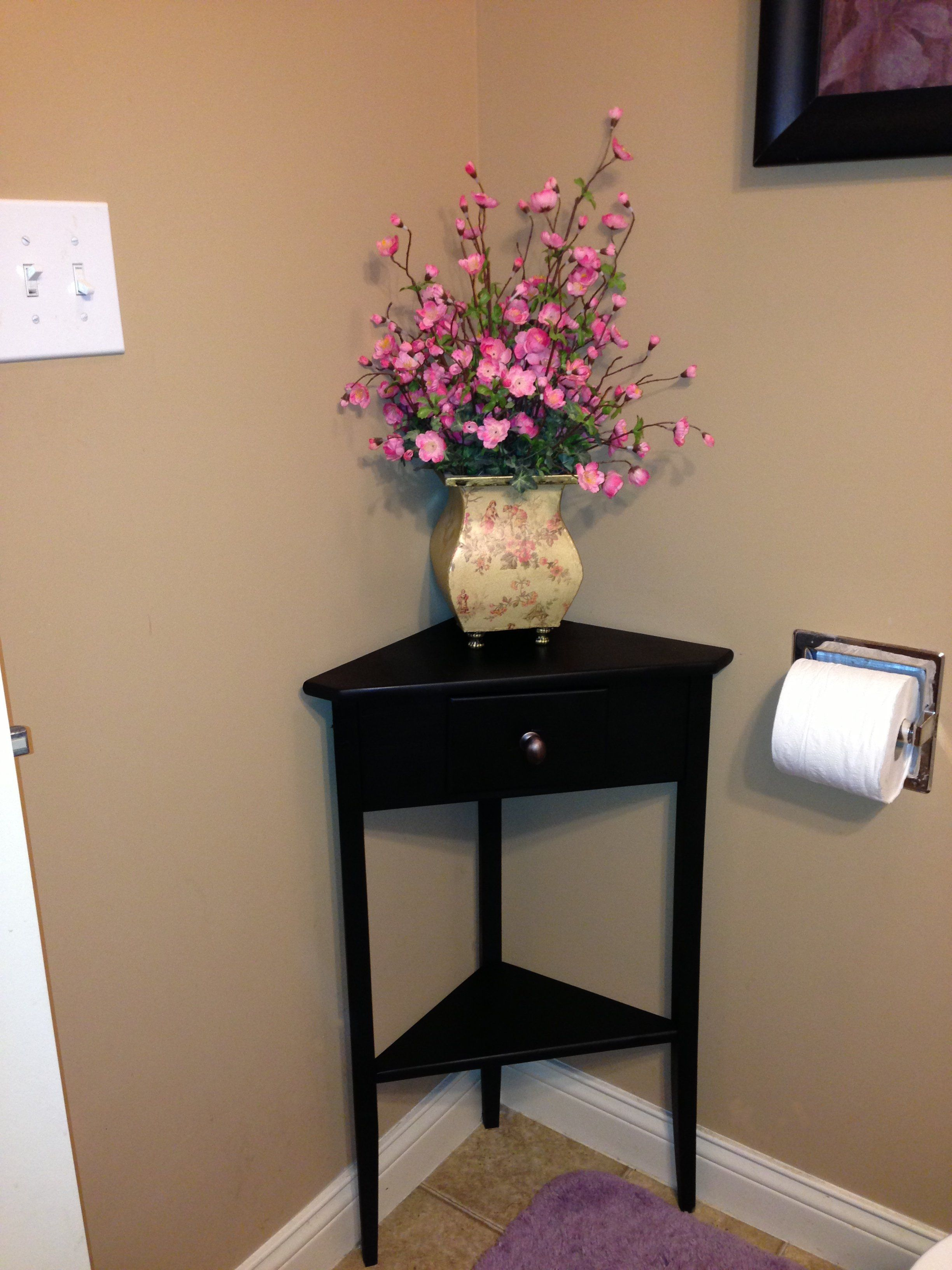 Painted Corner Table For Downstairs Bathroom Corner Table Home Decor Bathroom Table