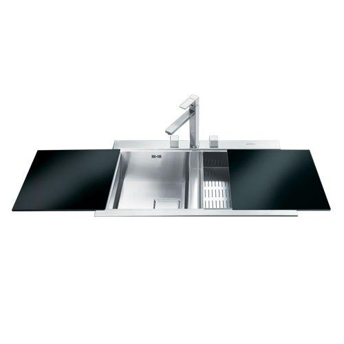 Double Bowl Ultra Low Profile Sink , Sinks, Smeg Black | Kitchen ...