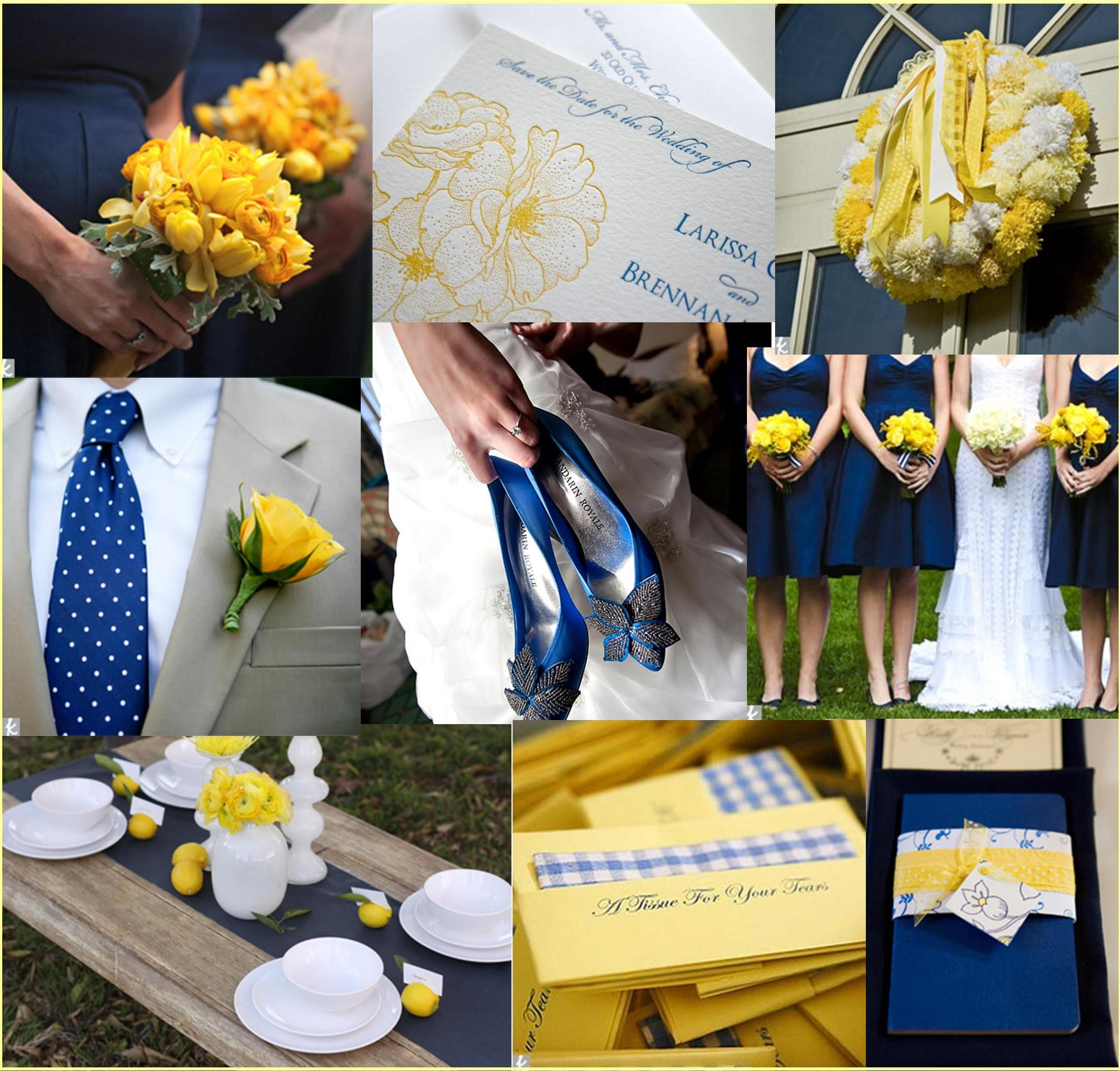 Yellow And Grey Wedding Flowers: Navy And Yellow Wedding