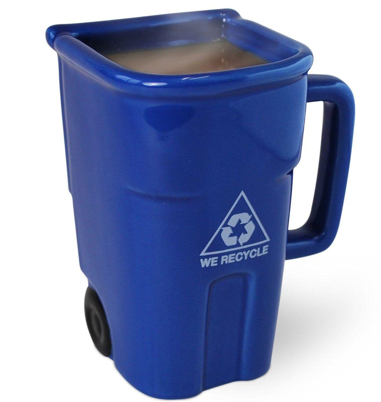 Bigmouth inc the recycling bin mug coffee cups unique