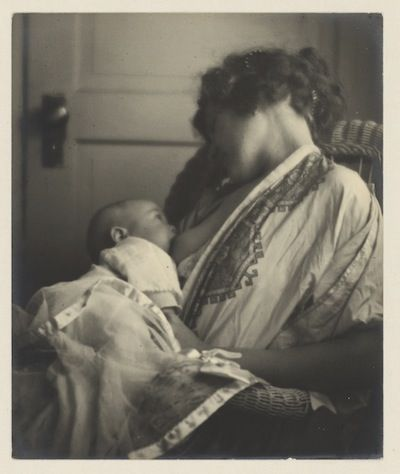 Mother Breast-feeding her Baby, byLouis Fleckenstein, c. 1900.