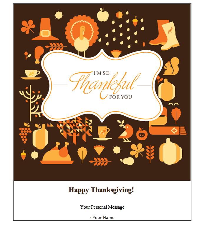 January 23 Thanksgiving Card Email Template Project 365 Design A