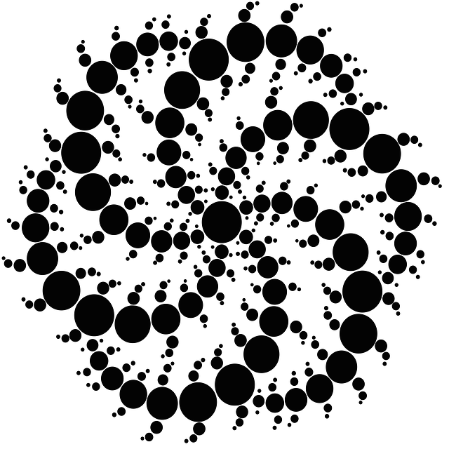 Abstract Crop Circle Stencil