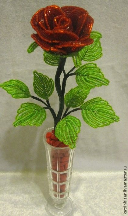 Цветы ручной работы. Ярмарка Мастеров - ручная работа Роза из бисера. Handmade.
