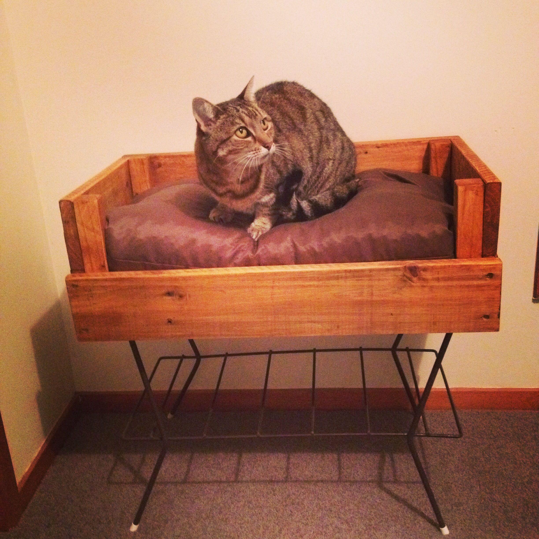 Pallet cat bed | Cat bed, Wood, Decor