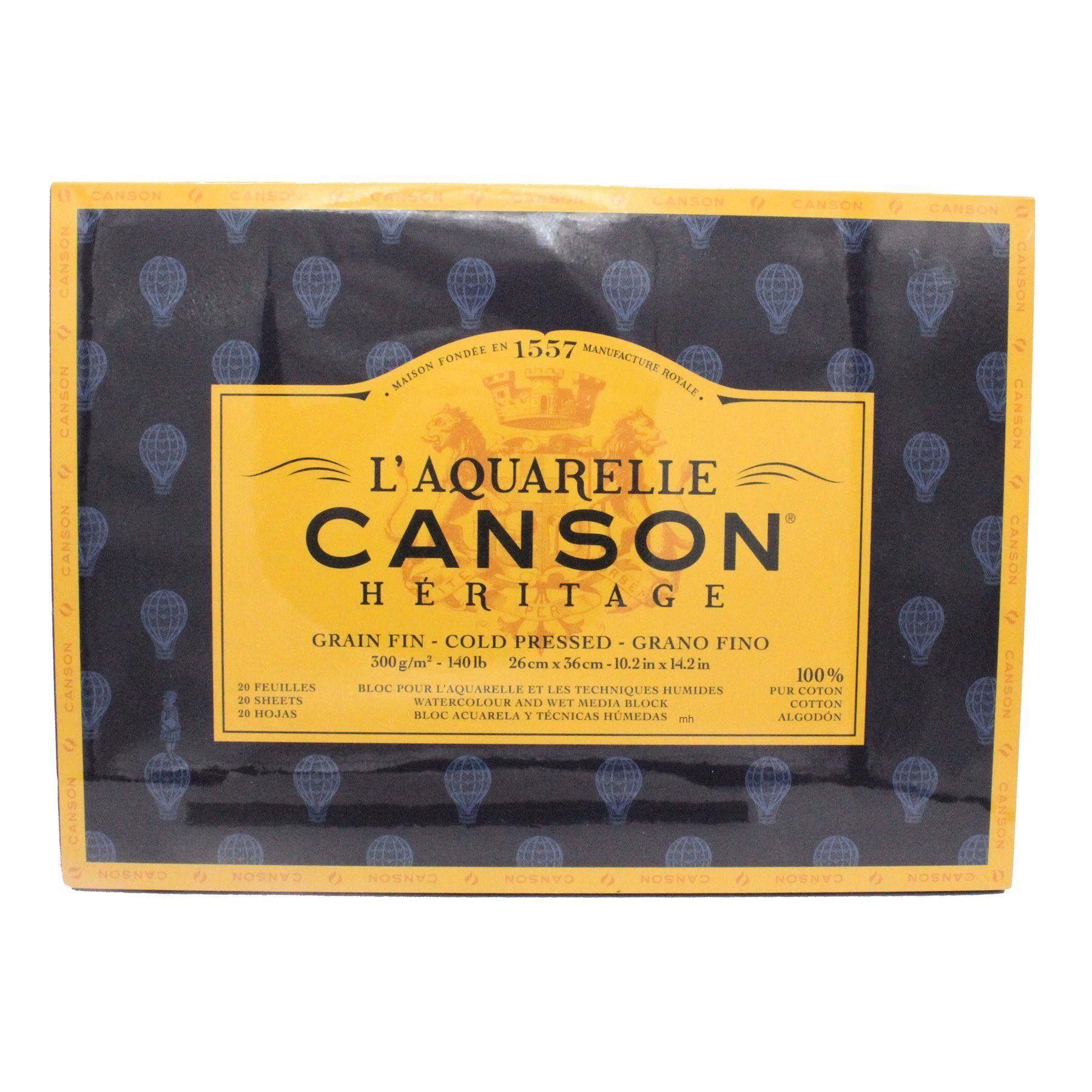Canson L Aquarelle Heritage Cold Press Watercolour Block 300gsm