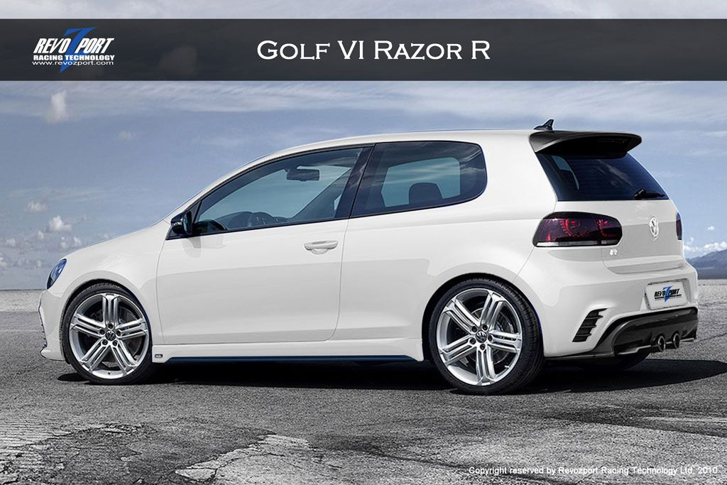 Vw Golf R Exterior White Vw Golf Car Automobile