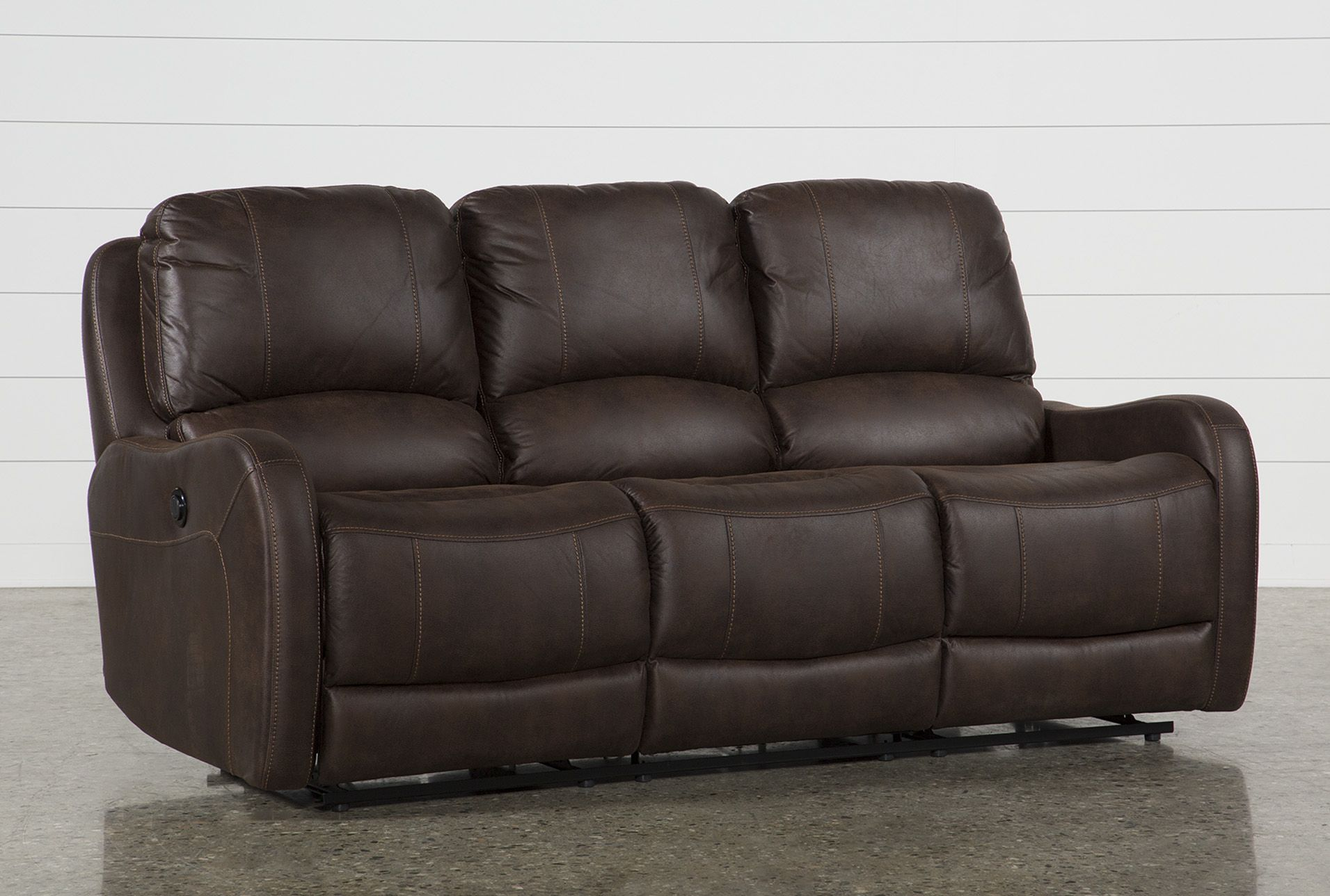 Davor Brown Power Reclining Sofa Power Reclining Sofa Power Reclining Loveseat Discount Living Room Furniture