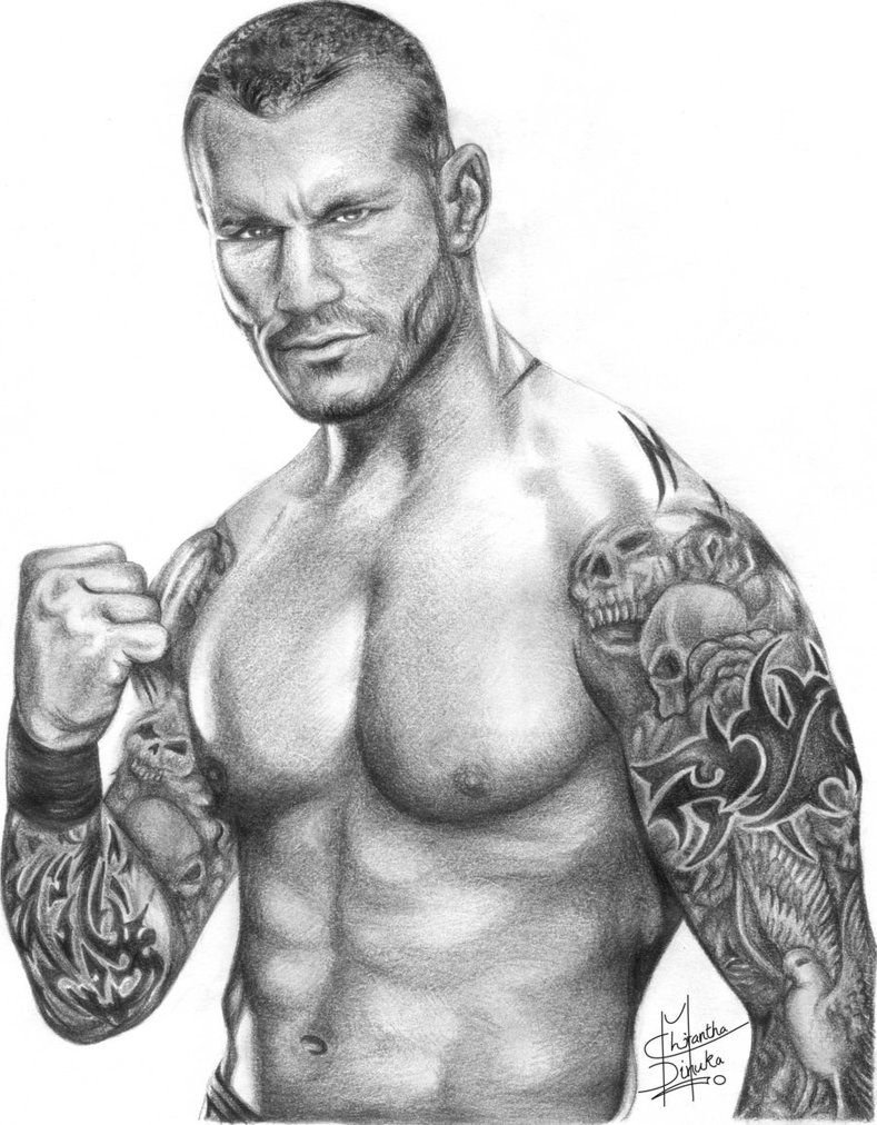 Pencil Drawings Of Famous People Randy Orton Pencil
