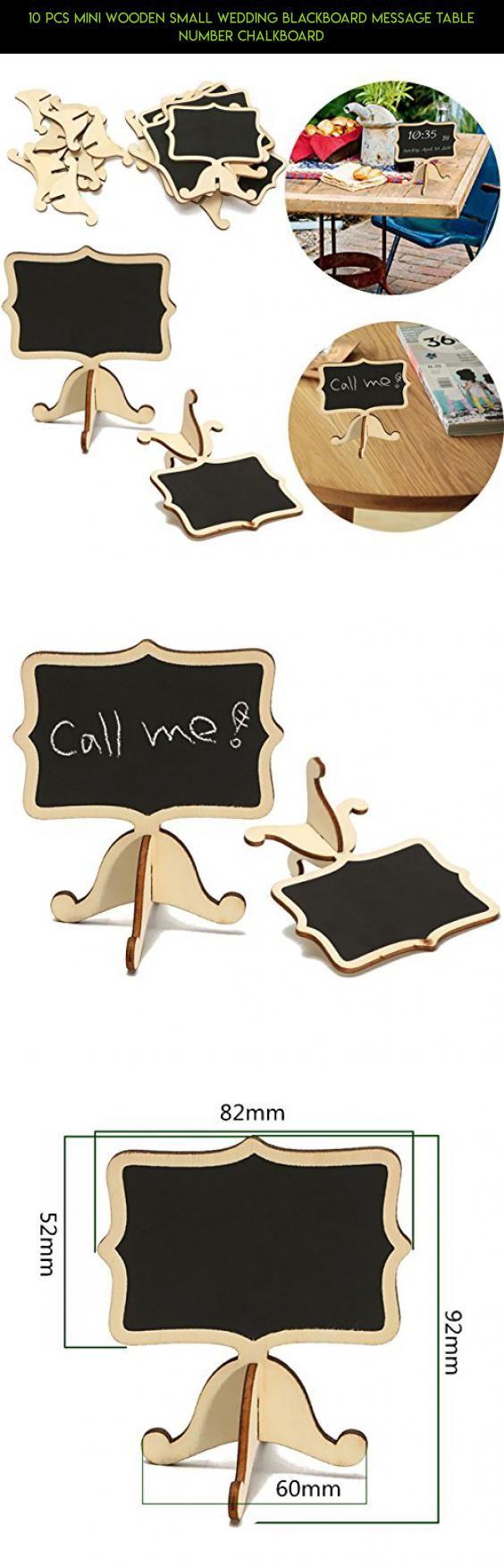 10 Pcs Mini Wooden Small Wedding Blackboard Message Table Number Chalkboard
