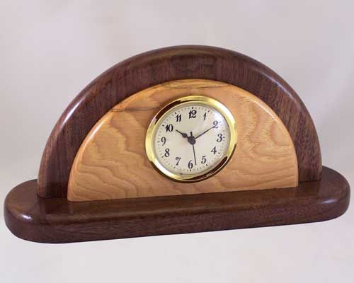 Wooden Clock Desk Clocks Decorative Wood Handcrafted