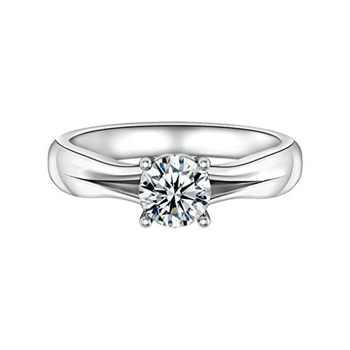 AmDxD Jewelry Silver Plated Women Promise Customizable Rings 4Prong CZ Size 8 ** Be sure to check out this awesome product.