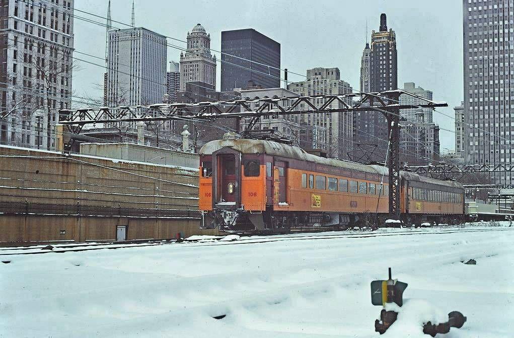 Photo chicago south shore line electric commuter train