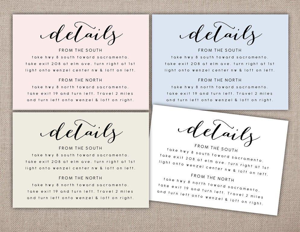 Wedding Invitations Hotel Accommodation Cards Details Printable Card Wedding Information Printables Wedding Details Card Wedding Direction Cards Wedding Cards