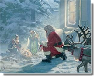 I love this! Even Santa knows the real reason we celebrate ...