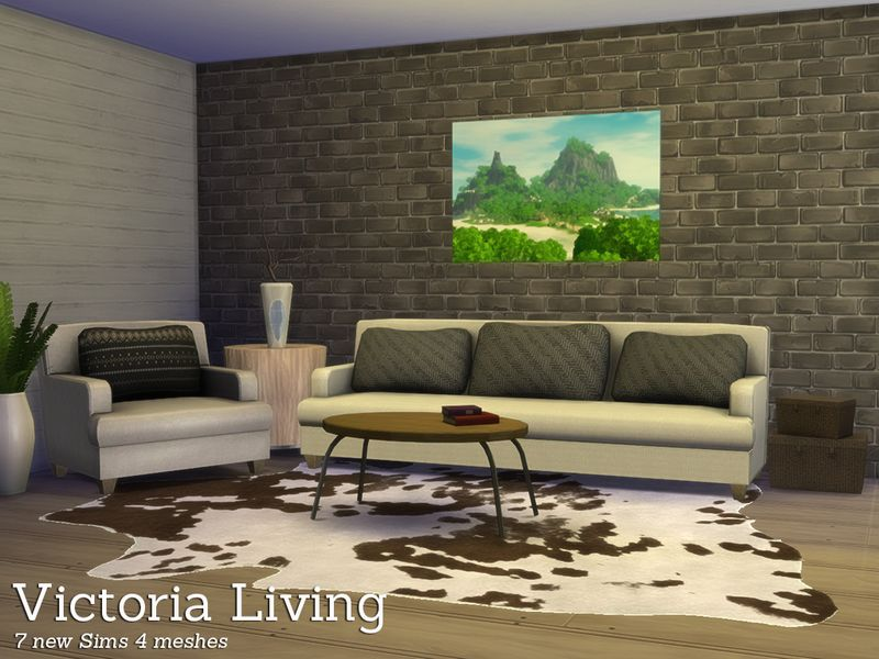 Victoria Living A Combination Of My Sims 3 Items And Some New In 1 Modern Livingroom Found TSR Category 4 Room Sets