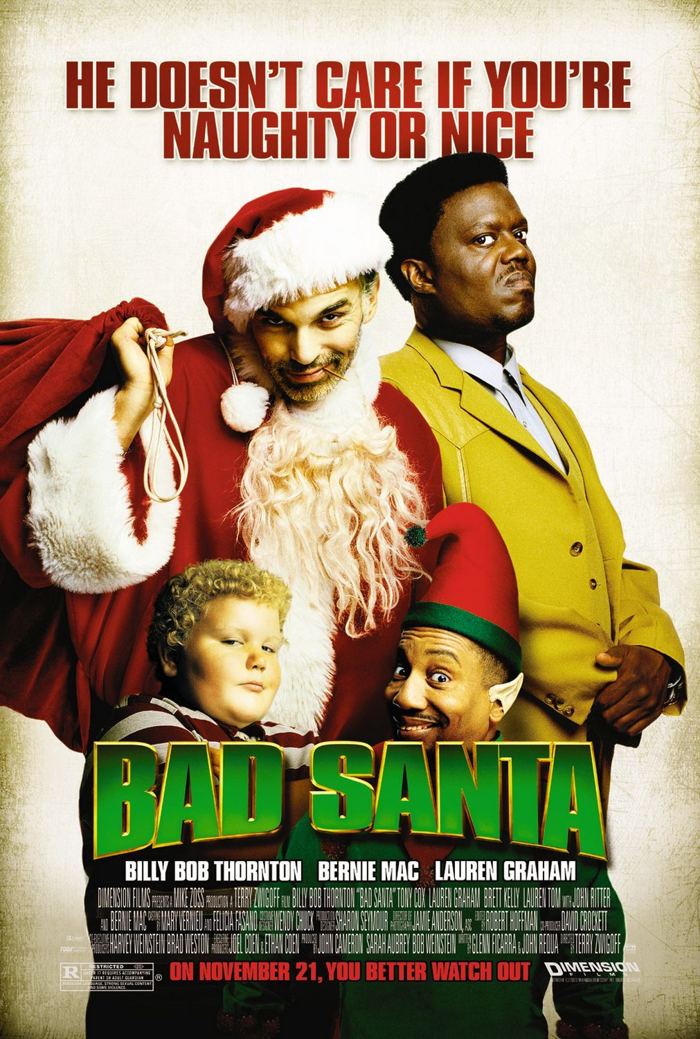 Review Bad Santa (2003) Crude but funny and endearing