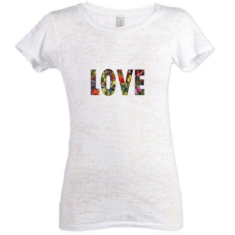 Love & Flowers Womens Burnout Tee