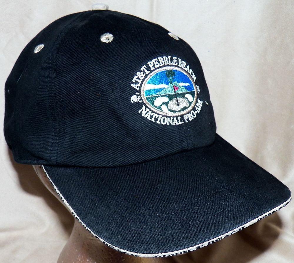 At T Pebble Beach Collection National Pro Am Pga Tour Black Sas Golf Cap Hat