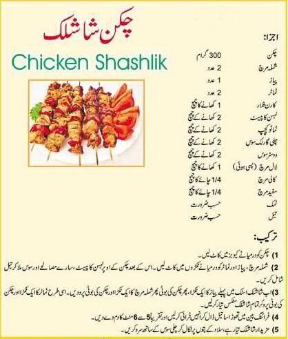 Easy Chicken Shashlik Recipe In Urdu | Shashlik recipes ...