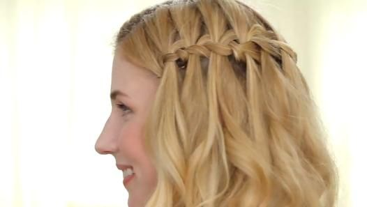 How To Get An Easy Waterfall Braid Video Dailymotion Fashion