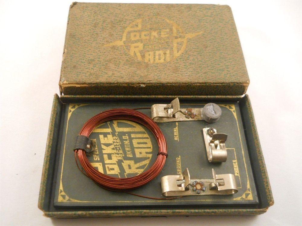 Vintage Spencer Pocket Radio Crystal Radio Set Dated 1929 Pocket Radio Radio Crystals