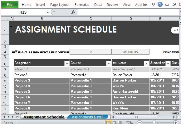 Free Assignment Template  Excel Templates    Template