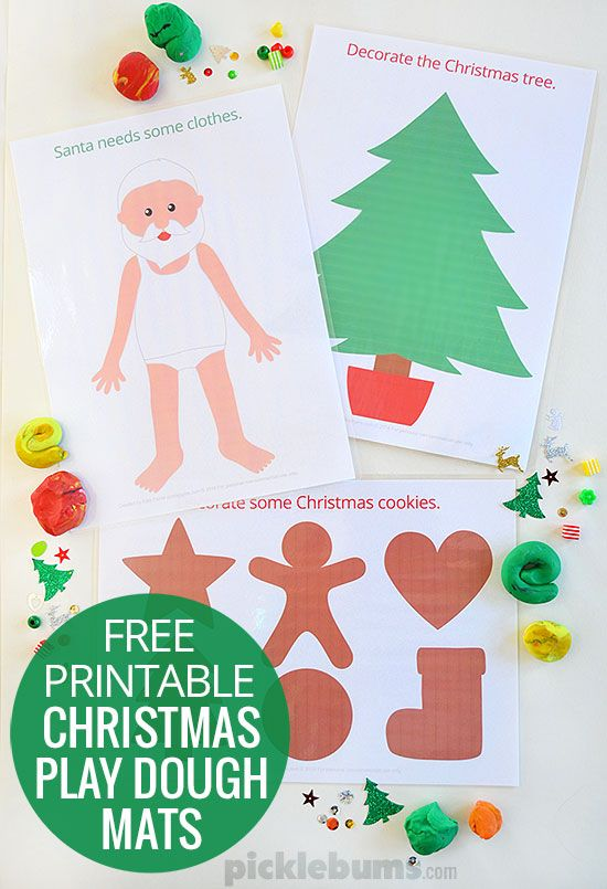 Free Printable Christmas Play Dough Mats Preschool Christmas Free Christmas Printables Christmas Play