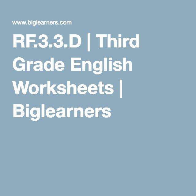 RF.3.3.D | Third Grade English Worksheets | Biglearners | RF.3.3.D ...