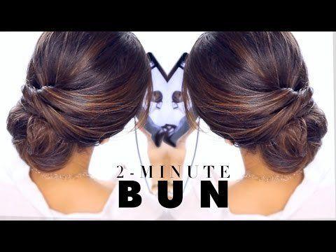 2 Minute Elegant Bun Hairstyle Easy Updo Hairstyles Easy Bun Hairstyles Easy Updo Hairstyles Hair Styles