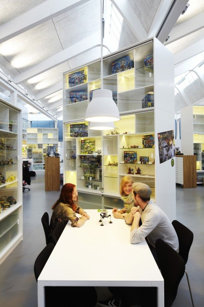 LEGO offices by  Rosan Bosch.  Collaborative space.  Could have paper, markers, ... Other tools for creative idea building.