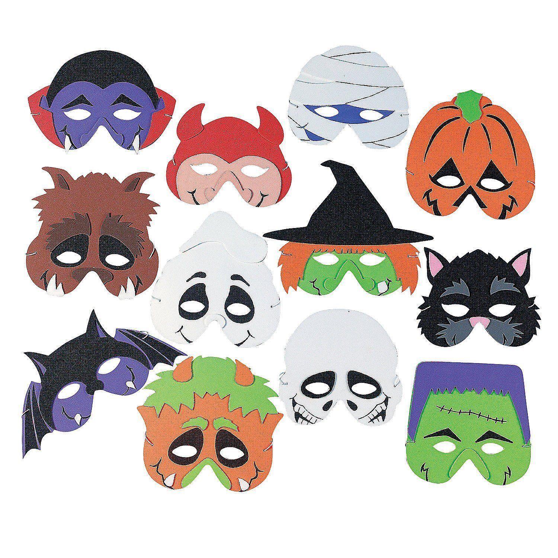 Foam Halloween Masks 12 Pack Ebay With Images Monster Mask