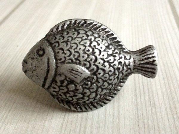 Details about Fish Knob Drawer Knobs Cabinet Door Knob Antique Black ...