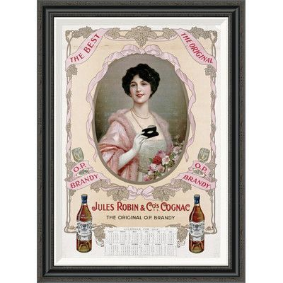 Global Gallery 'Jules Robin & Co's., Cognac' Framed Vintage Advertisement Size: