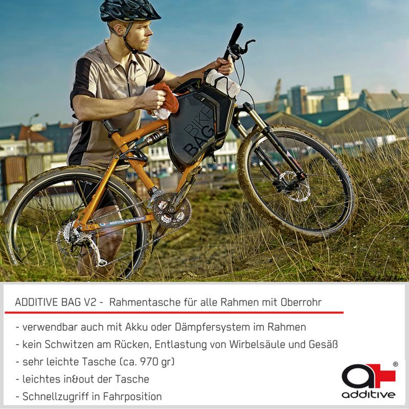 die ADDITIVE BAG V2 - die Rahmen Tasche für alle Fahrräder mit ...