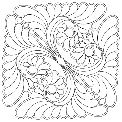 Continuous line quilting design and lots of design ideas