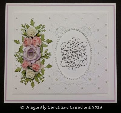 Dragonfly Cards And Creations An Elegant Birthday Dragonfly Cards
