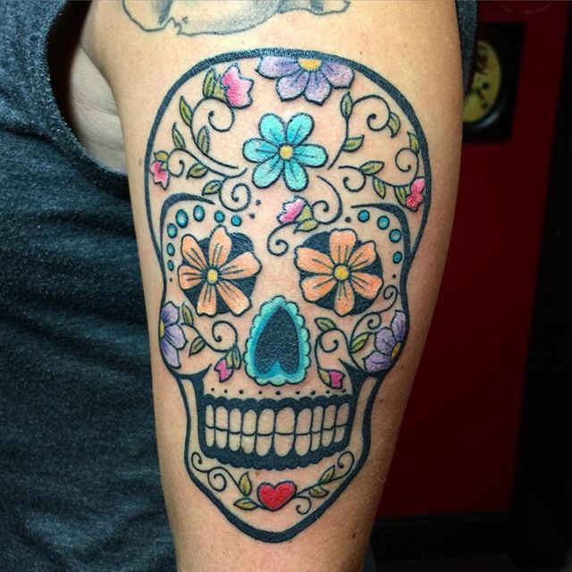 25 meaningful sugar skull tattoos you 39 ll want to get for Skull tattoos meaning