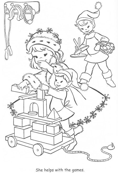 Coloring Book~Little Miss Christmas and Santa - Bonnie Jones ...