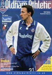 Oldham Athletic 2001 Slumberland shirt