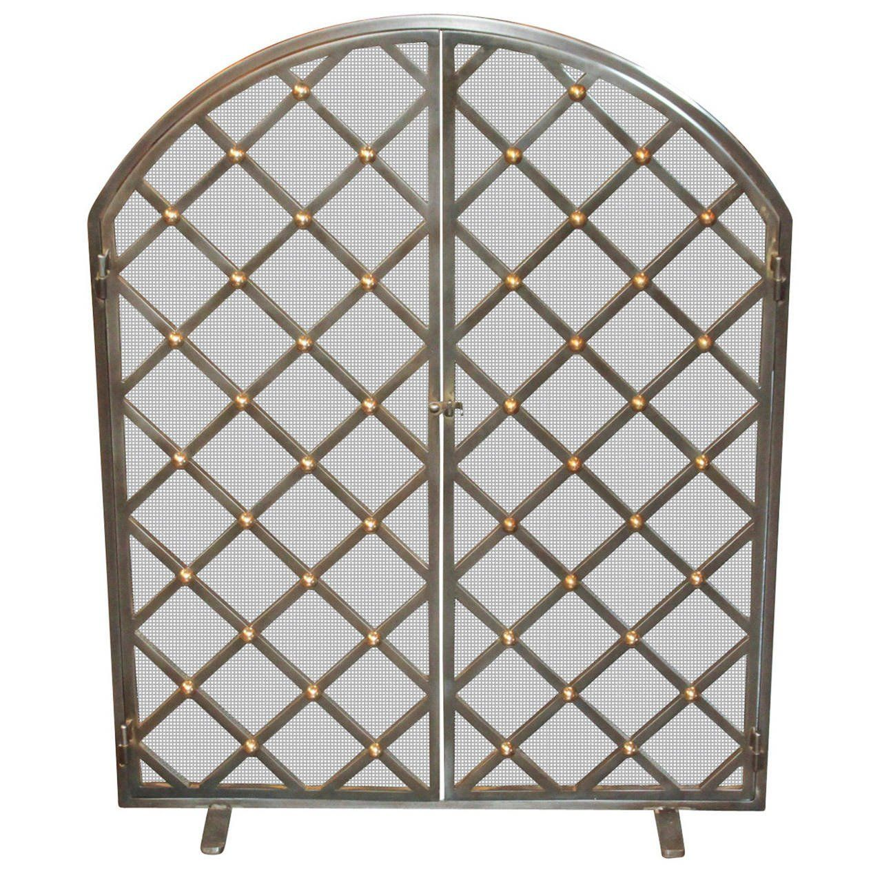 legacy custom steel and brass fire screen gardens building and