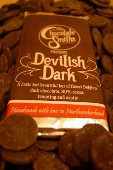 Our Devilishly Dark chocolate bar made with 80% cocoa.
