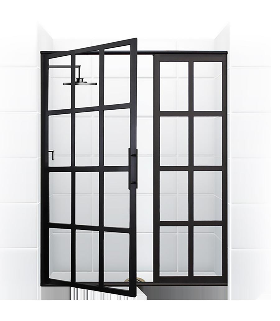 True dividedlight swing door u coastal shower doors pretty darned