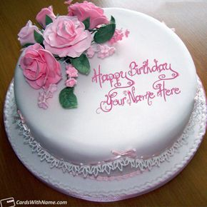 Stylish Name Editing Online On Birthday Cake Cakes With Name